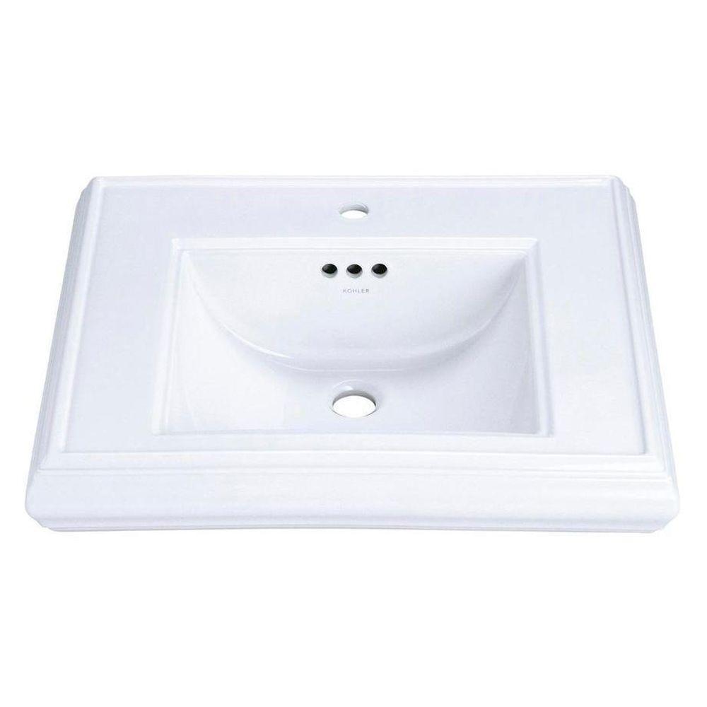 Kohler Memoirs 5-1/4 inch Pedestal Lavatory Basin in White ...