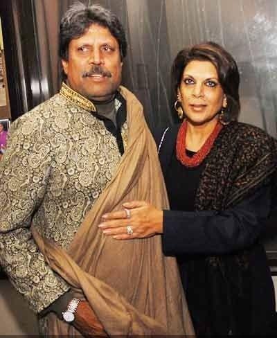 Kapil Dev & Romi Devi   Skykishrin - Cricket Players   Kapil