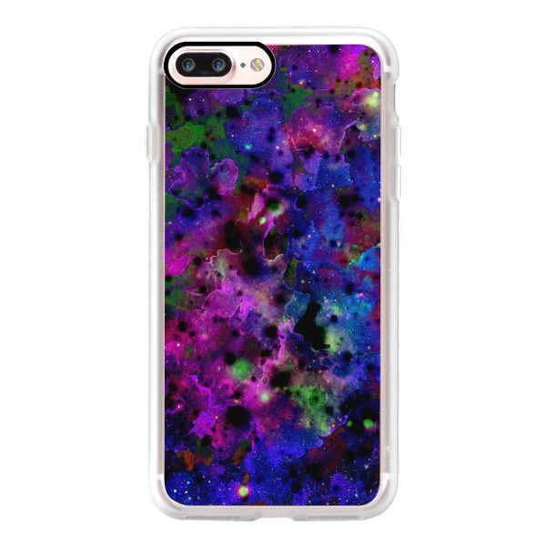 COLOR ME FLORAL 6 Bold Galaxy Abstract Fine Art Watercolor Painting... ($40) ❤ liked on Polyvore featuring accessories, tech accessories, iphone case, iphone cases, iphone cover case, galaxy iphone case, purple iphone case and slim iphone case