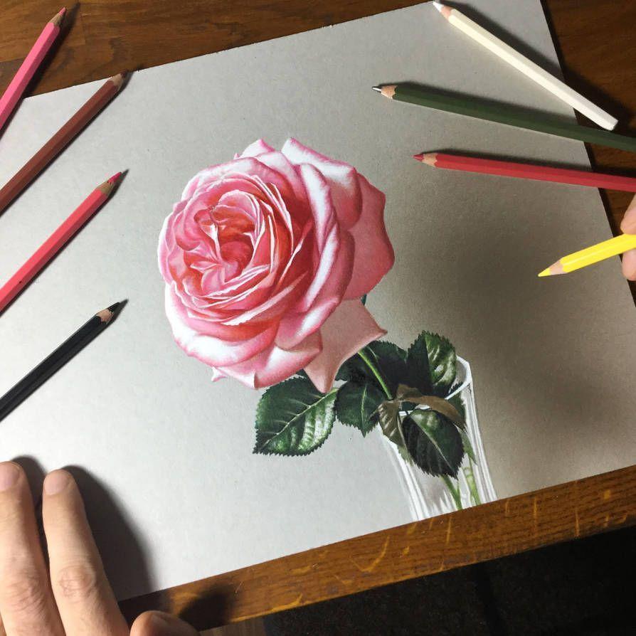 Learning To Draw You Re Gonna Need A Pencil Drawing On Demand Blumen Zeichnung Rosenzeichnungen Blumenzeichnung