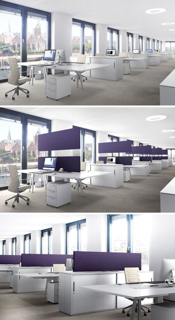 modern open plan interior office space. Acousticpearls ARCHITECTS \u2013 Open Space Acoustic System: More In Modern Offices Plan Interior Office S