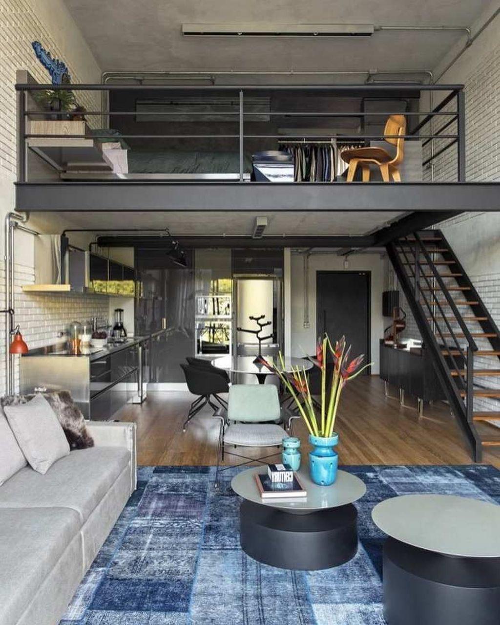 30 Stunning Loft Apartment Decorating Ideas That You Will Like Loft Apartment Decorating Loft Apartment Designs Condo Interior