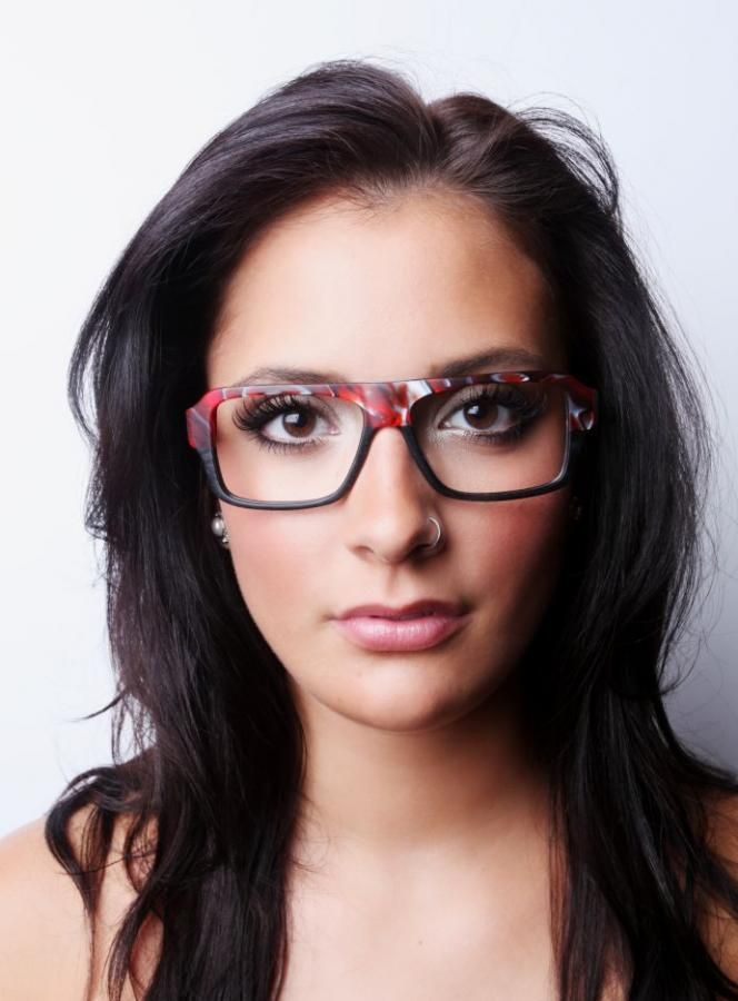 unique glasses/big red plastic frames/oversized glasses   Women with ...
