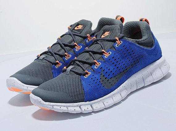 low priced 0e6c7 84eae nike free powerlines 2 dark grey royal orange 01 Nike Free Powerlines+ 2  Dark Grey Royal