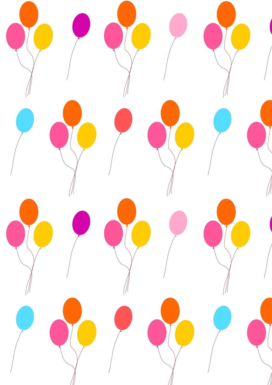 Printable Birthday Balloons ~ Free printable balloon pattern paper happybirthday printables pinterest