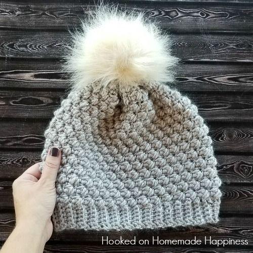 Pebble Beanie Crochet Pattern   Nilpferd, kostenlose Muster und Mütze