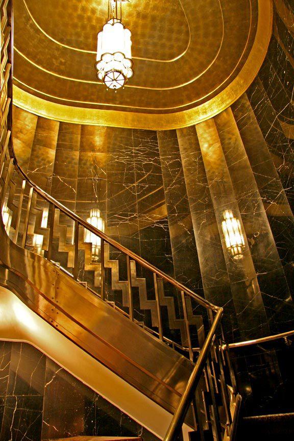 art d co chrysler building new york int rieur escalier art d co architecture. Black Bedroom Furniture Sets. Home Design Ideas