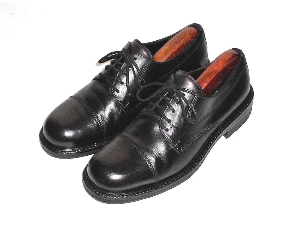 Ecco City Burgundy Leather Cap Toe Oxford Shoe Men's Euro 44 US 10-10.5 W