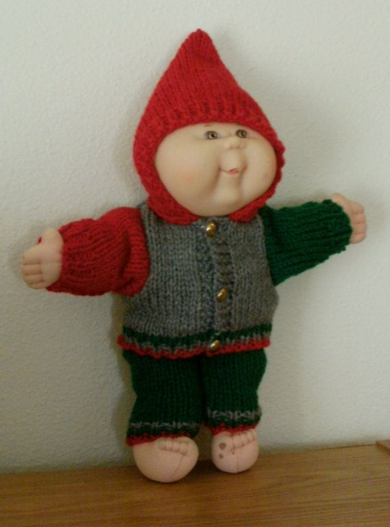 New Knitting Pattern Preemie Baby Kid 12 14 Inch Cabbage Patch
