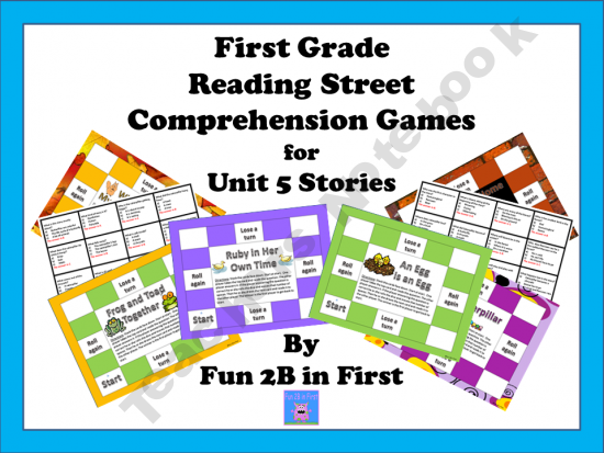 First Grade Reading Street Comprehension Games for Unit 5#Repin By