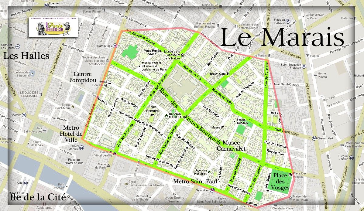 Bataclan Concert Hall Paris Map.Map Of Le Marais In Paris Paris My Way Paris Map Paris
