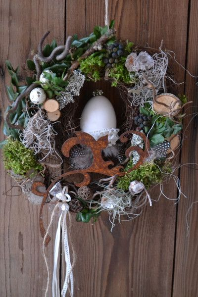 "Photo of Door wreath ""Frühlingslust …"" from Die Landwerkstatt on DaWanda.com"