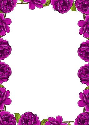 Free Digital Purple Rose Frame And Border In Vintage Design Rosenranke Freebie Rose Frame Page Borders Design Borders And Frames