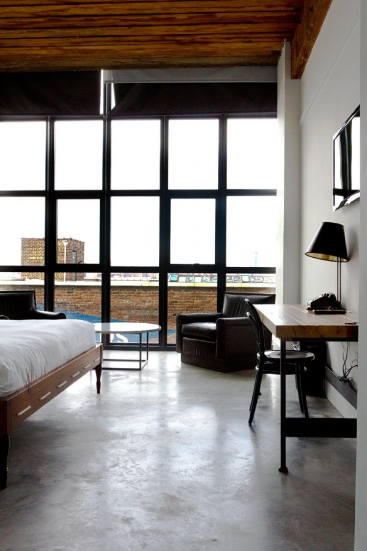 The wythe hotel the guest list pinterest interiors for Ace hotel brooklyn