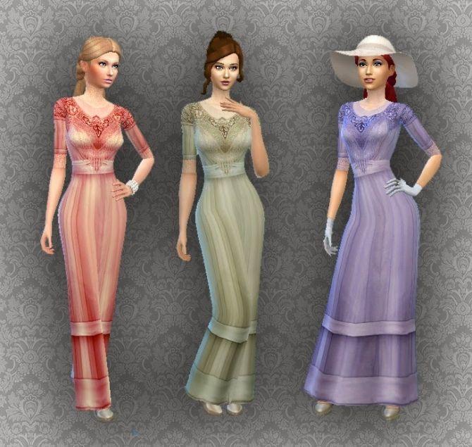 Vestidos elegantes sims 4