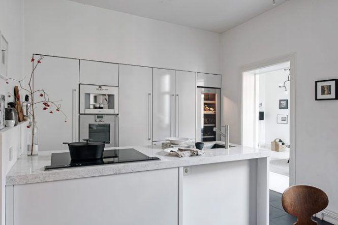 Muebles de cocina empotrados Cocina empotrada, Cocinas blancas y - Imagenes De Cocinas
