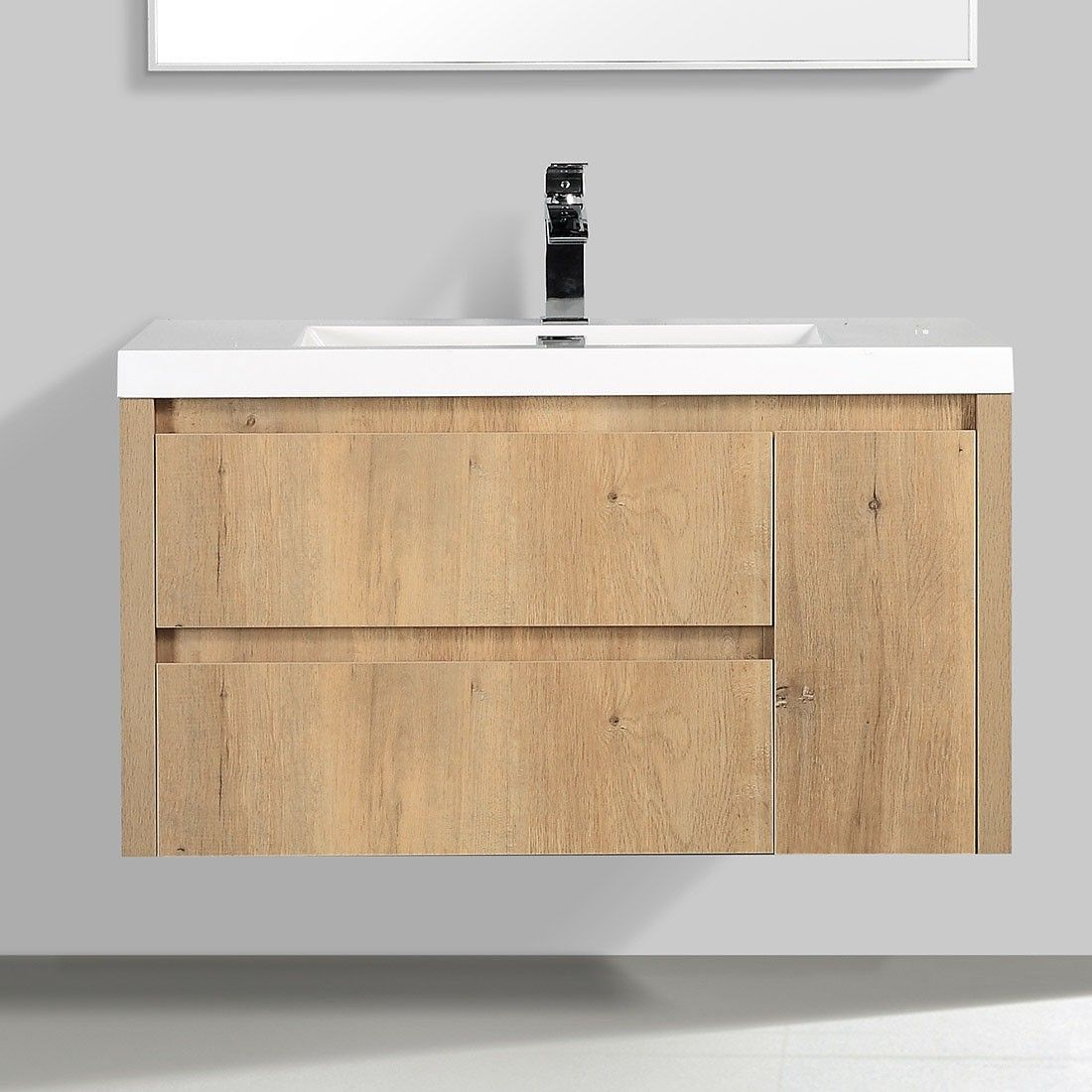 Purchase Online Quality New 90 Ove Oak Wood Modern Wall Hung Vanity Bathroom Cabinet Wall Hung Vanity Bathroom Vanity Cabinets Modern Bathroom Vanity Wood