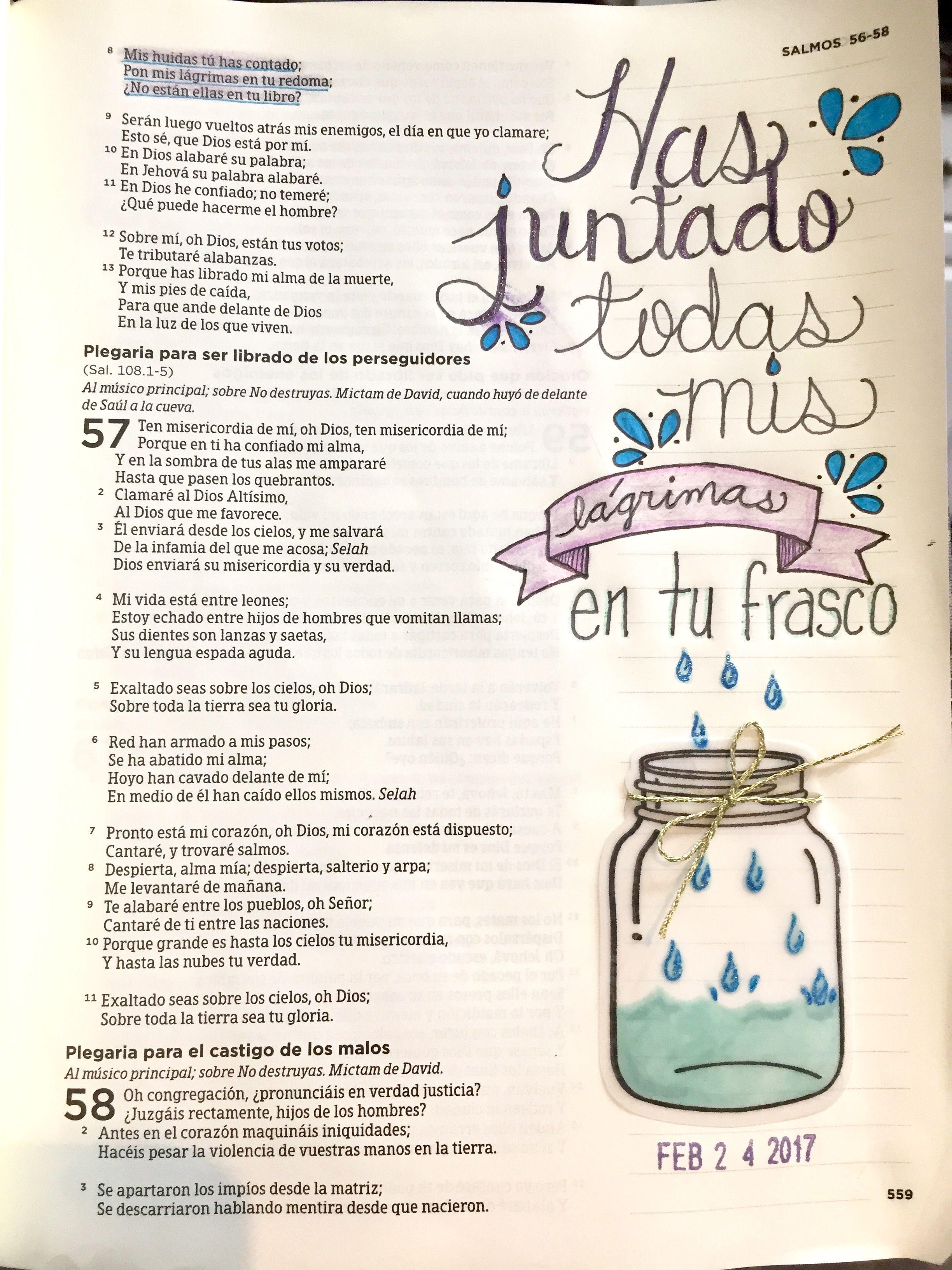 Haz Juntado Todas Mis Lágrimas La Biblia Pinterest Biblia