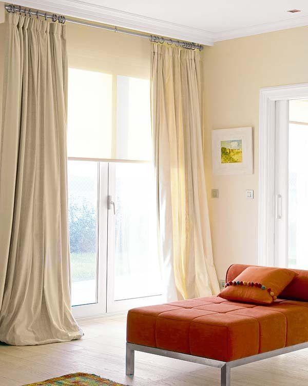 Diez ideas para combinar cortinas y estores Pianos