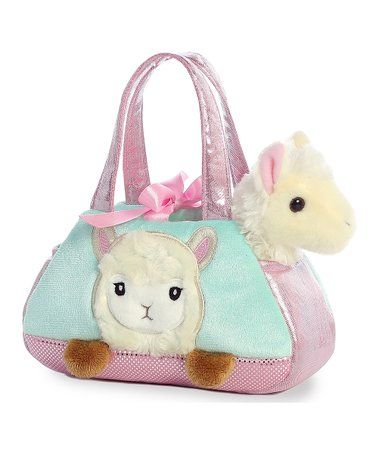 Another great find on zulily! Pink Llama PeekaBoo Plush