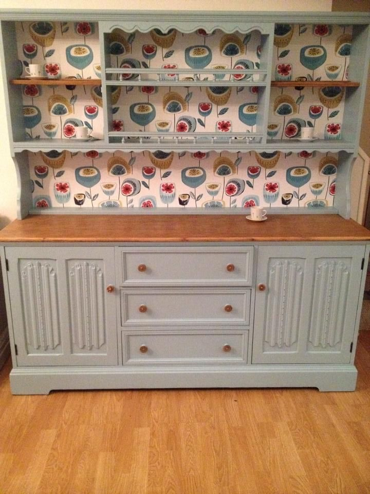 Delightful Dresser Painted In Autentico Eggshell Paint, Colour Summer Sky