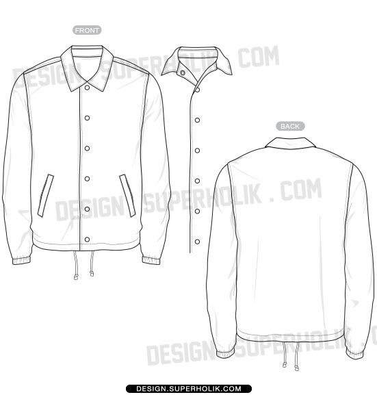 coaches jacket template fool pinterest templates jackets and