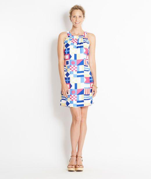 8d0e58cea0 Vineyard Vines - LOVE this Silk Nautical Signal Print Dress! Cute ...