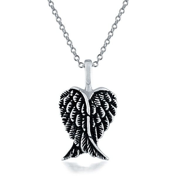 Sterling silver mini feather angel heart wing pendant 21 liked sterling silver mini feather angel heart wing pendant 21 liked on polyvore featuring jewelry pendants accessories necklaces theme jewelry angel aloadofball Image collections