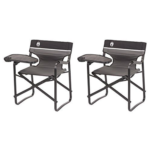 coleman deck chair with table girl potty aluminum chairs swivel and drink holder 2pack details can be found by clicking on the image