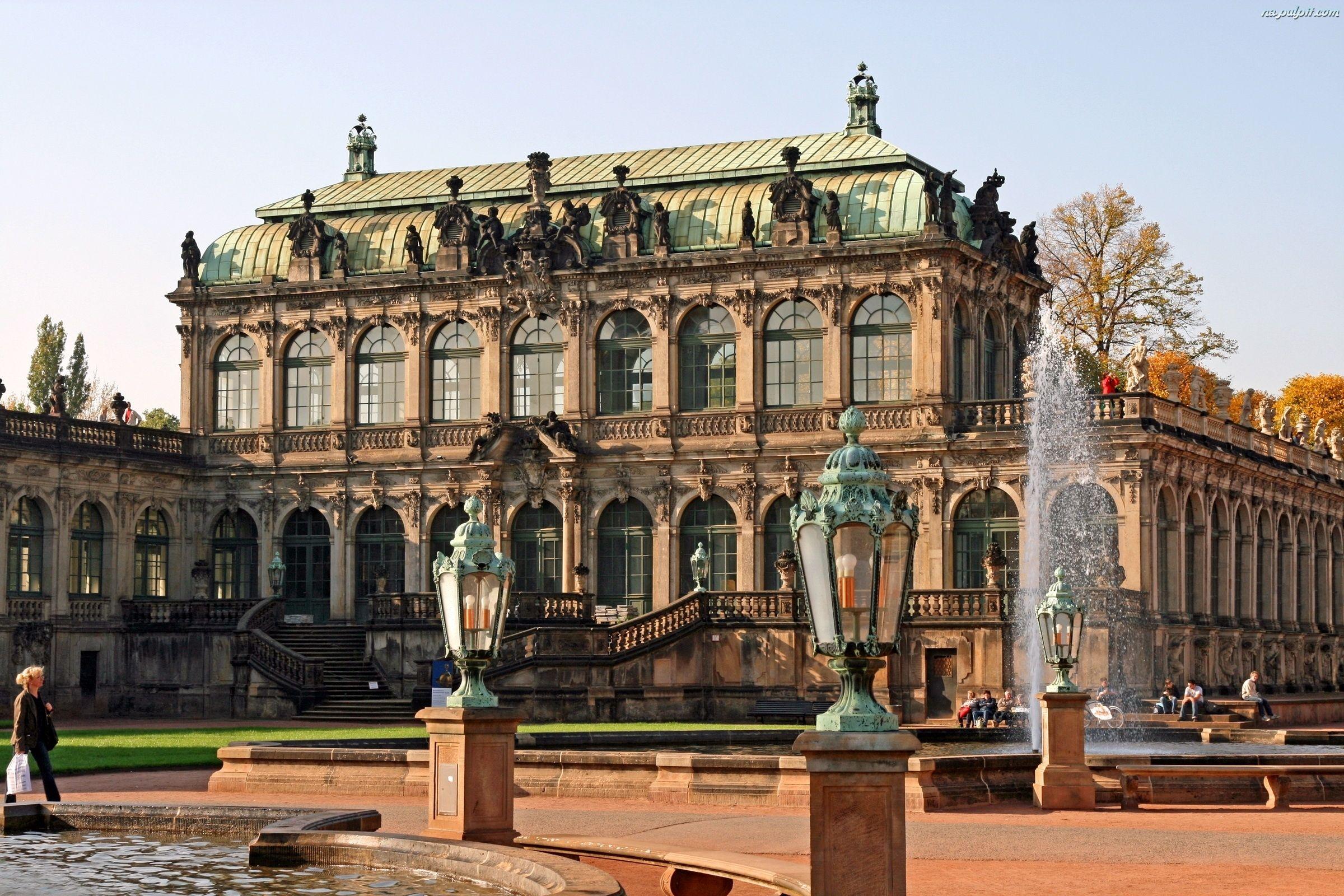 E Schloss Palac Drezno Zwinger Niemcy Bilder Dresden Deutschland