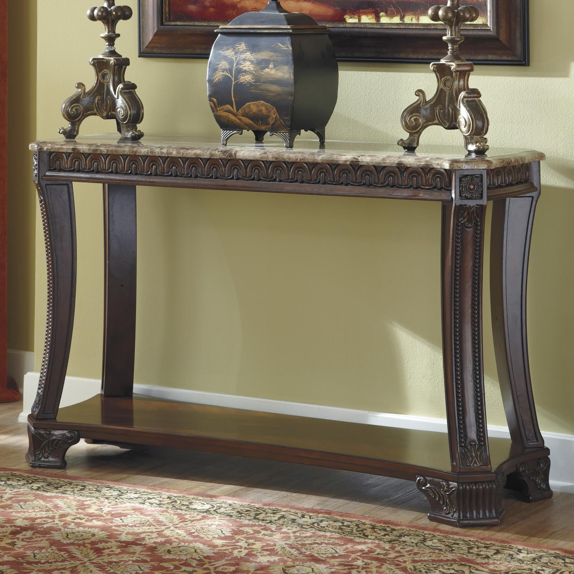 Ledelle Sofa Table By Signature Design By Ashley With Images Ashley Furniture Wood Sofa Table
