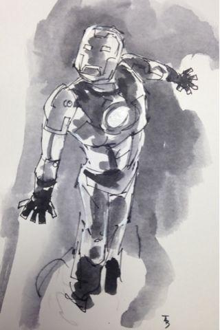 Iron Man art by Thomas Boatwright