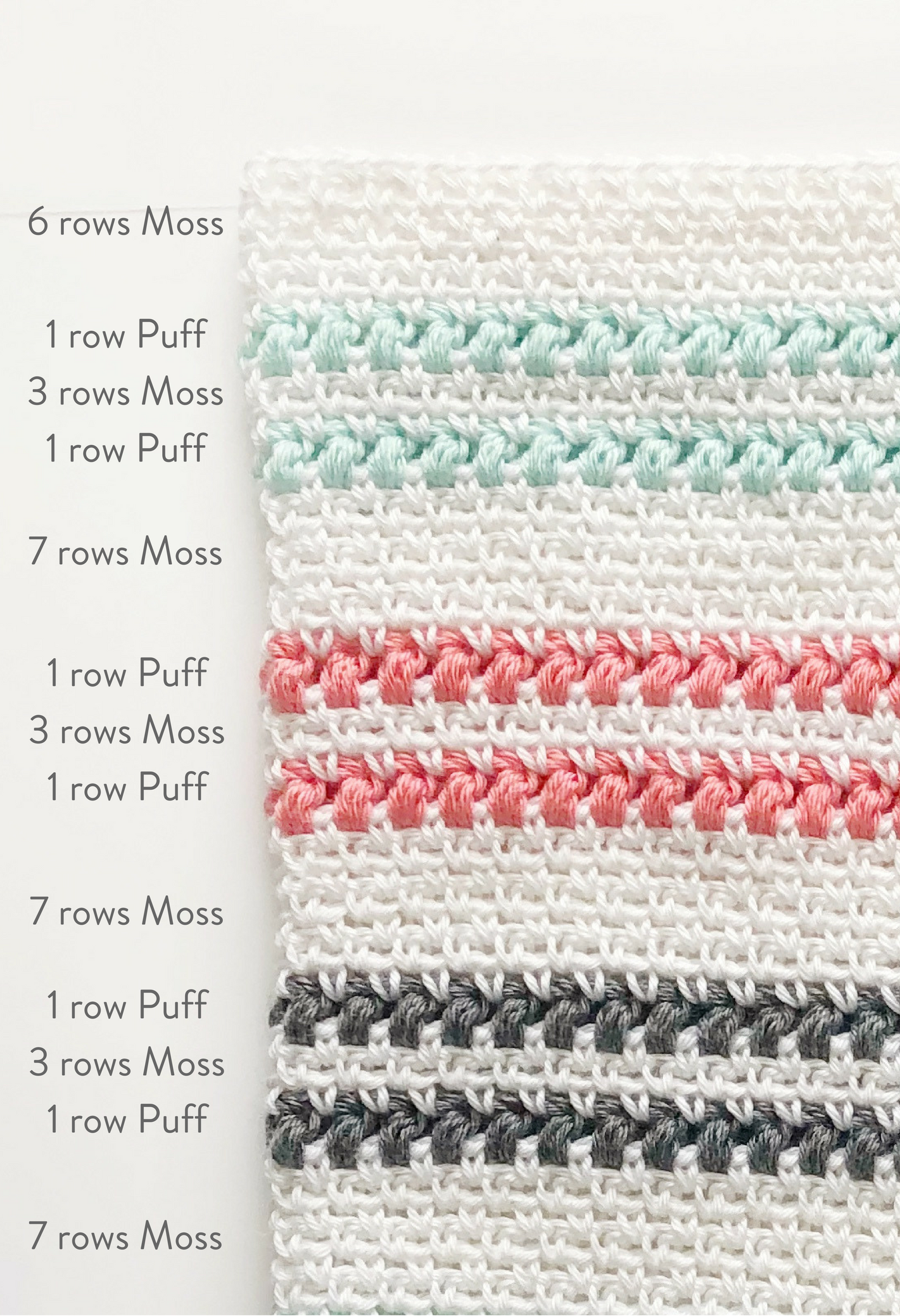 crochet moss and puff stitch blanket - Daisy Farm Crafts free ...