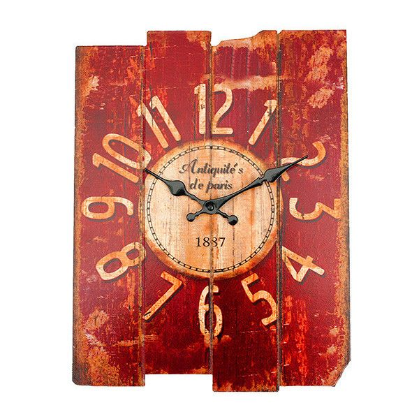be0a55e252 Antique Art Wall Clock Wood Vintage Clock Retro Home Office Cafe Bar...  ($12) ❤ liked on Polyvore featuring home, home decor, wood home decor, ...