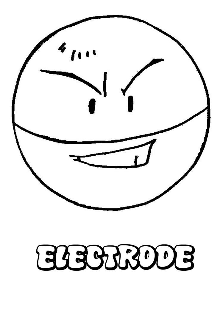 Electrode Pokemon Coloring Page Pokemon Coloring Pages Pokemon