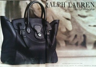The Ralph Lauren Soft Ricky Bag Named After His Wife Lucky