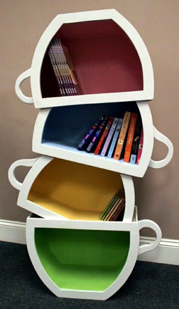 modernes design vom kinder - bücherregal - tassen möbel and kunst - designer mobel bucherregal