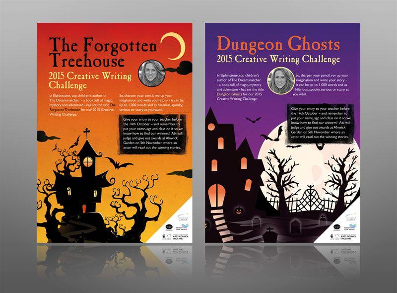 Fun Leaflet School Children Ghosts Haunted House Leaflet Leaflet Design Leaflet Printing