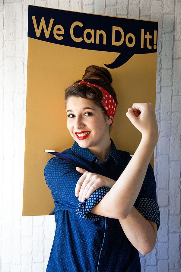 Rosie the Riveter DIY Halloween Costume from WhipperBerry \u2026 Pinteres\u2026