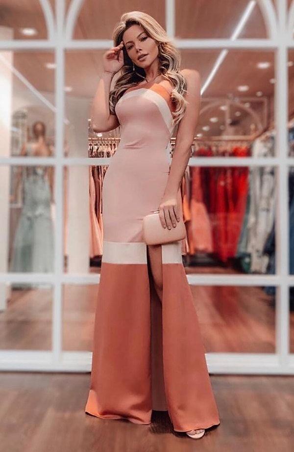 Vestido de festa nude: 45 longos para usar em 2020 -   17 style Feminino festa ideas