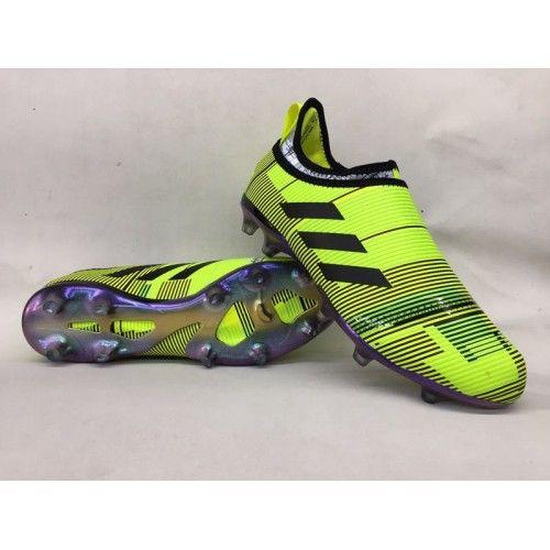 73e464a13e8 Buenas Botas De Futbol Adidas Glitch Skin Baratas FG Volt Negro Violeta