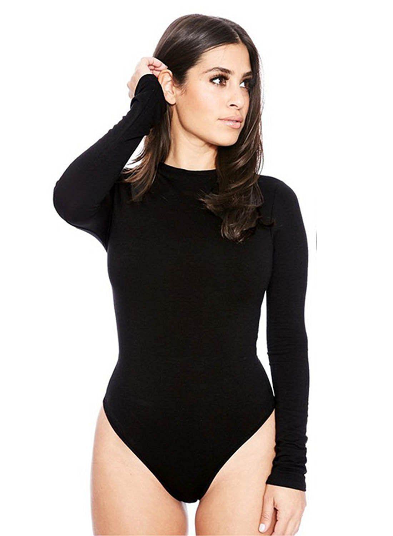 9efbe29285 Kinikiss Women Ladies Sexy Long Sleeve Velvet Bodysuit Leotard Top Women  Snap Crotch Skinny Jumpsuit