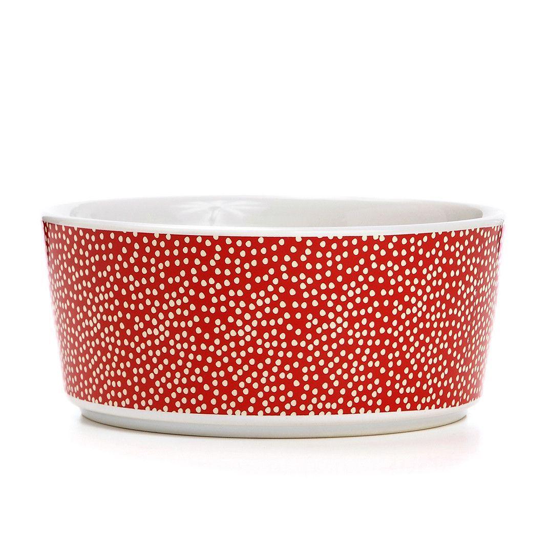 Specktacular Polka Dot Dog Bowl Catness Large Bowls