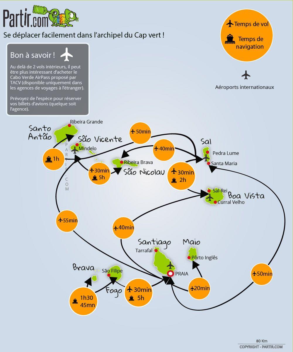 Carte Cap Vert Distance Et Trajet Cap Vert Carte Touristique
