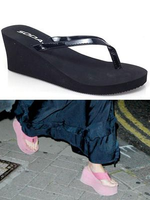668f2c0cab38 Platform Flip Flops - Worst Fashion And Style Trends From The Early 2000s