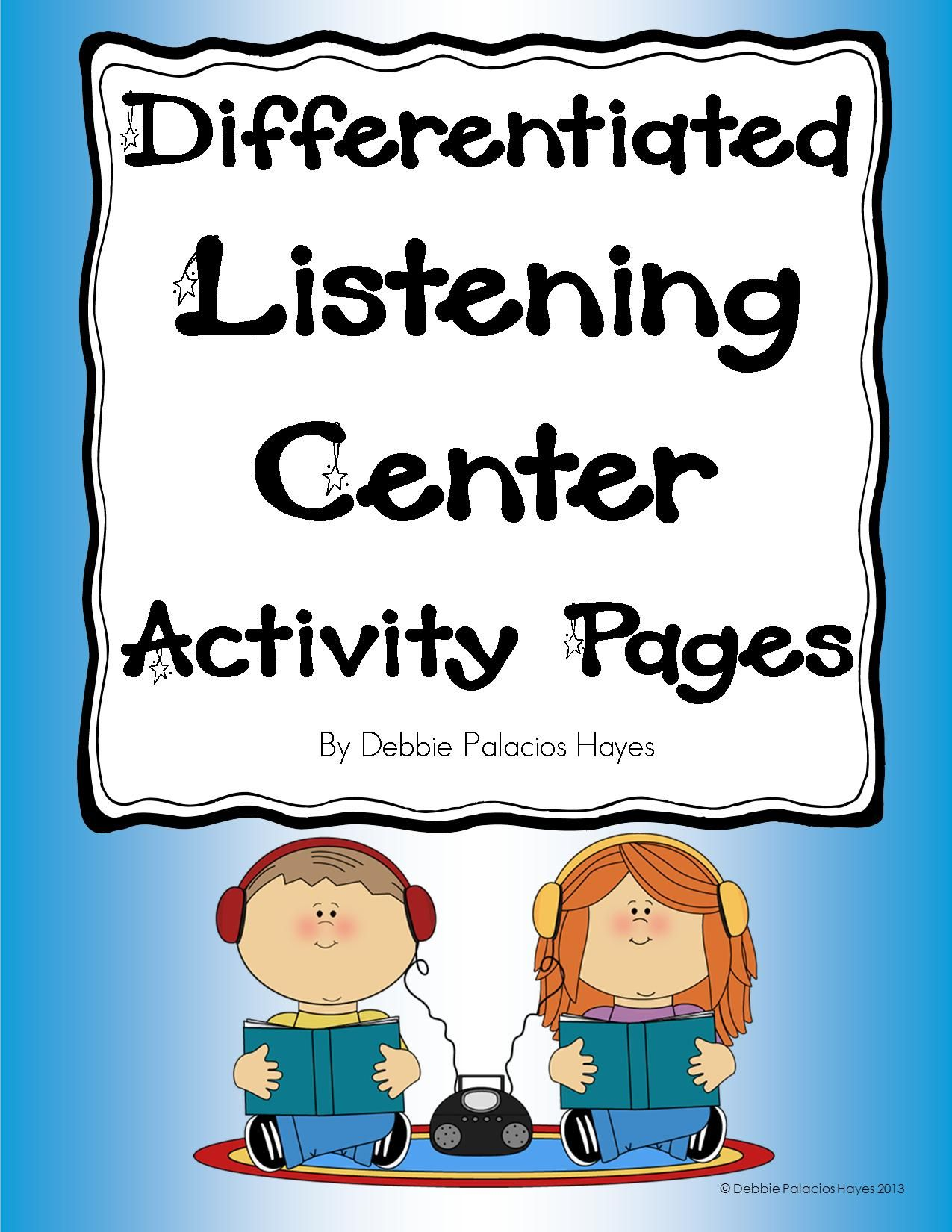 Listening Center Activity Pages Differentiated