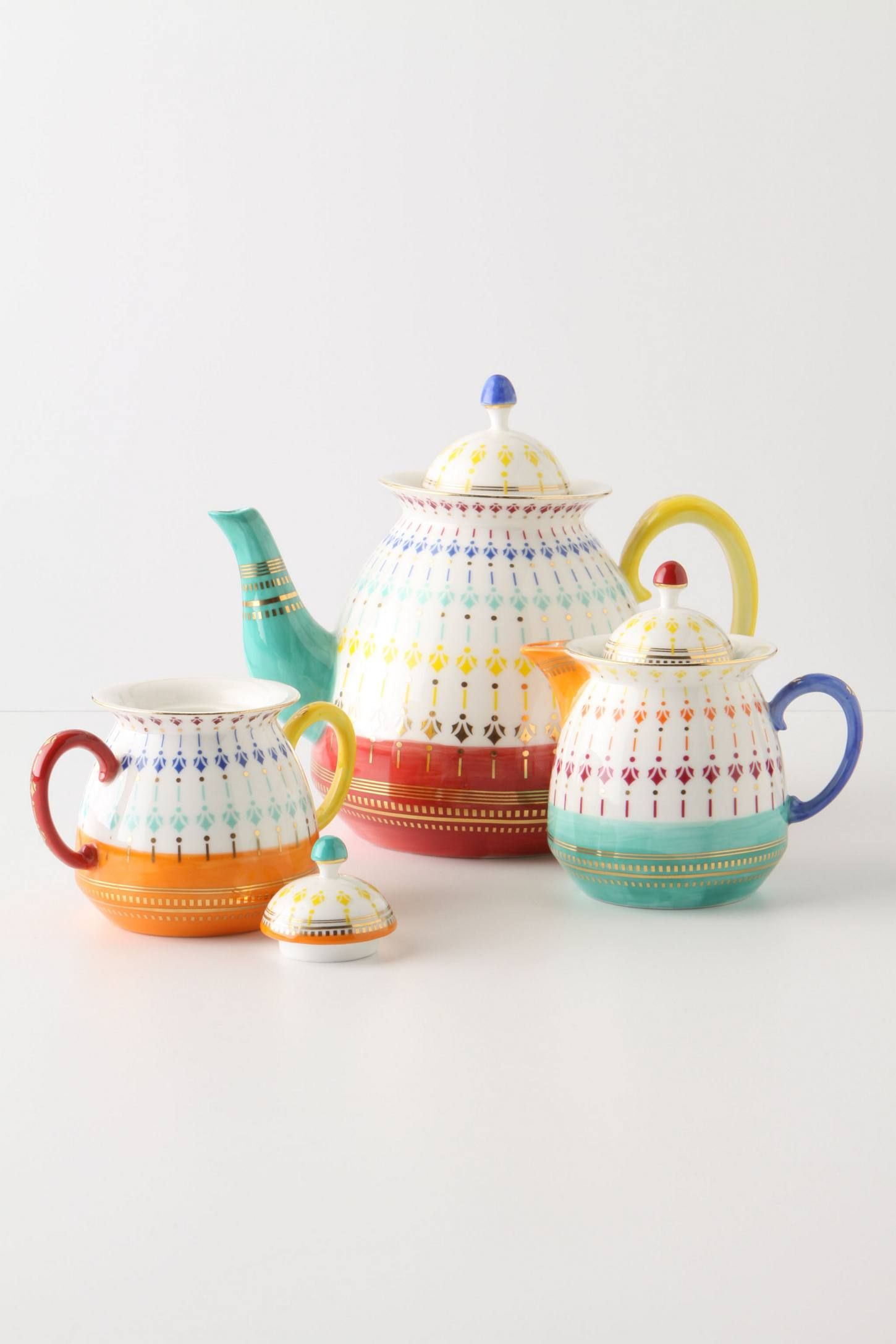 Afternoon Fete Teapot - anthropologie.com
