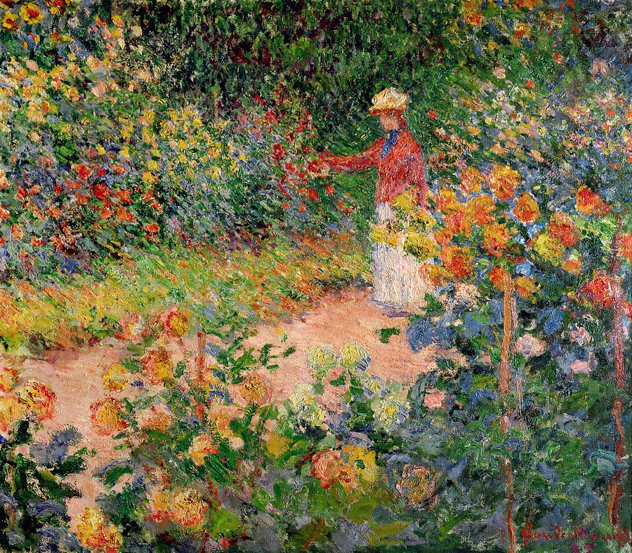 Garden At Giverny Garden Painting Artist Monet Monet Paintings