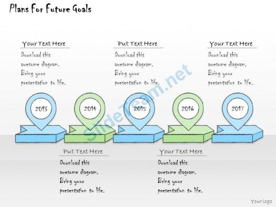 1113 Business Ppt Diagram Plans For Future Goals Powerpoint - flow chart template
