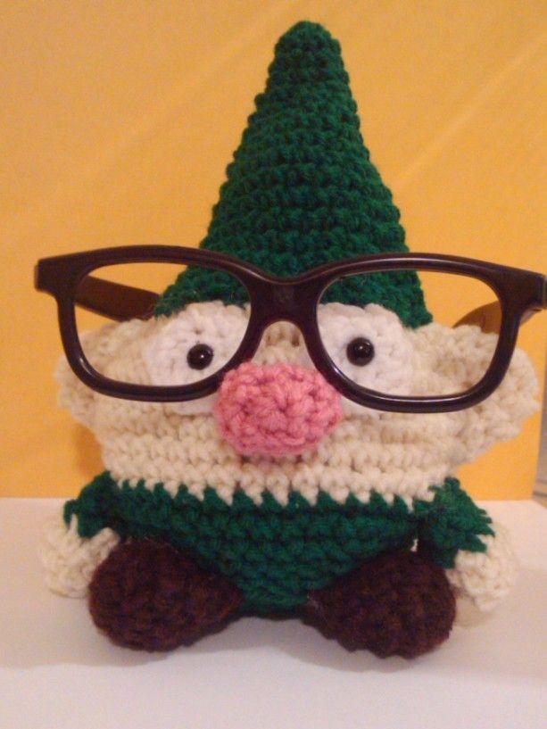 Fred The Gnome Crochet Amigurumi Plush Toy Glasses Holder ...